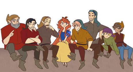Snow and the seven pirates by Looji