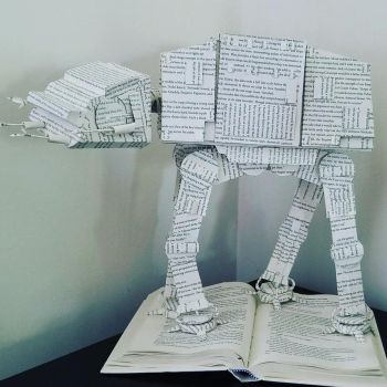 AT-AT Book Sculpture 2 by wetcanvas