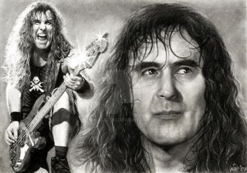 Steve Harris - IRON MAIDEN by akaLilith