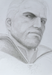 Geralt Of Rivia, The Witcher, in game. WIP 2 by Tatooa2001