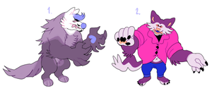 werewolf auction! (2/2 CLOSED) by megadinkloid