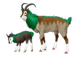 Realistic Skiddo and Gogoat