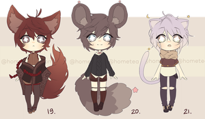 Adoptables [CLOSED] by HomeTea