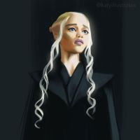 Day 3 Painting - Khaleesi by katyillustrates
