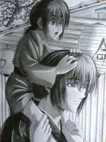 Father + son, Kenshin + Kenji by MorgainePendragon