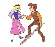 Taran and Eilonwy by Beatles4Ever