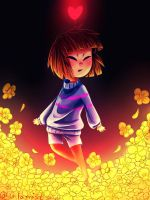 Undertale - golden flowers by Glamist