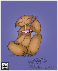 Ramen Sloth Colored by bbcl