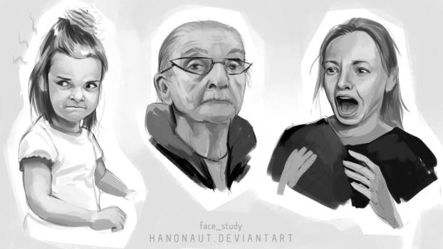 Facestudy07 by Hanonaut