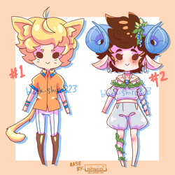 Kemonomimi Auction Adopts! (CLOSED) by Black-Shiro823