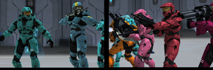 SO EPIC RED VS BLUE by Overlordflinx