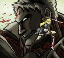 Christa and the Armored Titan by RadecMai