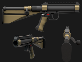 BA-10, a bolt-action shotgun by Elfdud7