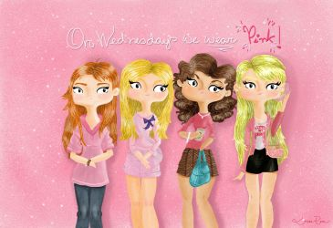 On Wednesdays We Wear Pink by Louise-Rosa