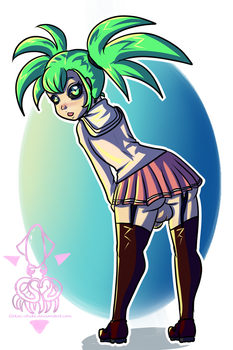Do you understand the point of a skirt? by Gokai-Chibi
