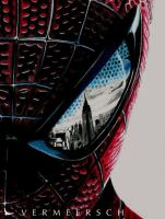 The Amazing Spiderman eye detail by Martin--Art