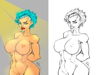 Marlene Color Test and Lineart by PierreMateus