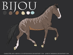 Reference Sheet:: Bijou by DustiiiBunniii