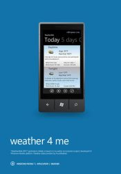 weather 4 me WP7 free application by Bobbyperux