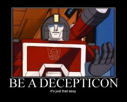 TF G1 Be a Decepticon by velocity50