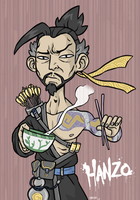 Hanzo from Overwatch. by Spz-511