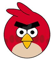 Angry Birds - Red Bird by SuperMarioFan65