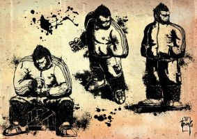 gorilla for t-shirts by tanggod