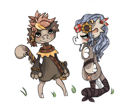 Flower children - Marley and Tay by RascalWabbit