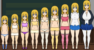 My OC Misa: age 1 to 18 by LinkHelios234