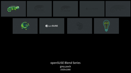 openSUSE Blend Series - grey pack by DarthWound