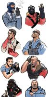 TF2 Portaits by ex-m