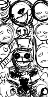 Five nights at Freddy's 2 Cover (sketch) by SilverBaze