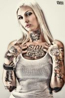 Tatted Up - Jenny Nicole Delello by GrahamPhisherDotCom
