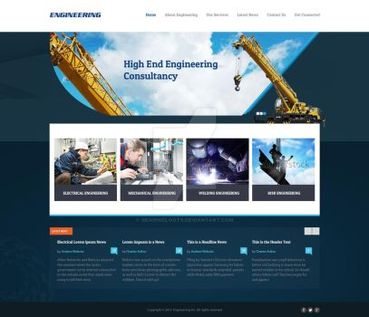 FREE Engineering Web Layout PSD Template by graphicloots