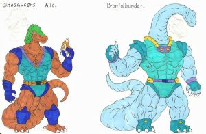 Dinosaucers Upgrade 1 Allo, Brotothunder. by darkcolorfulspots