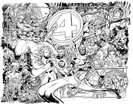 Fantastic Four Birthday Inks by PatrickThornton