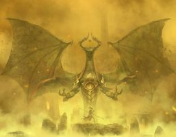Magic The Gathering: Nicol Bolas by Cryptcrawler