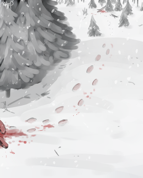 Red Snow by MeowTownPolice