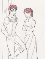 Red headed Cousins by Myridd
