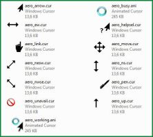 Aero Black Left Handed cursor pack by nyritha