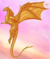 Pern Dragon Flying by Gingy1380