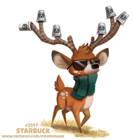 Daily Paint 2147. Starbuck by Cryptid-Creations