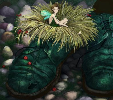 fairy in old shoes by Ryzhaia