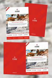 Print and Web Design for Pure by evidentart