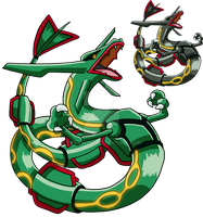 384 - Rayquaza - Art v.2 by Tails19950