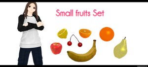 Fruits set by kaahgomedl