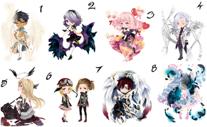 Free wta Adoptables Angels+Demons batch  {CLOSED} by faeryhond
