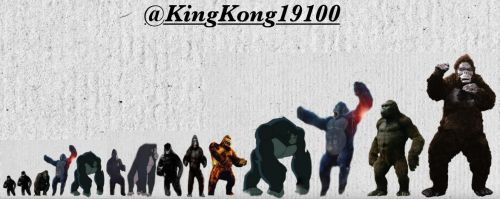 All King Kong Incarnations Size Comparisons by kingkong19100