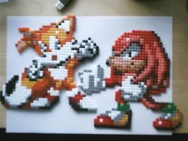 Hama knuckles and tails by tony-boi