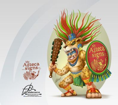 GuerreroJaguar-myAztecaSigns by aladecuervo